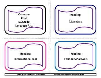 Common Core 5th Grade ELA Task Cards (New Version)