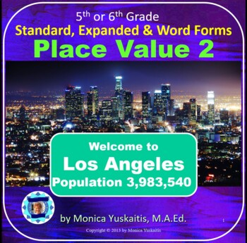 Common Core 5th - Place Value 2 - Standard, Expanded & Word Forms