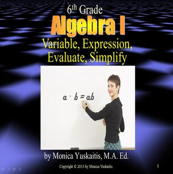 Common Core 6th - Algebra 1 - Algebraic Expressions, Varia
