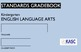 Common Core Academic Standards Gradebook Kindergarten Engl