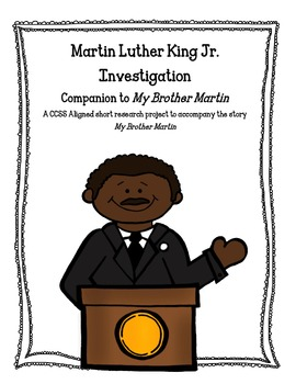 Common Core Activities to Accompany My Brother Martin