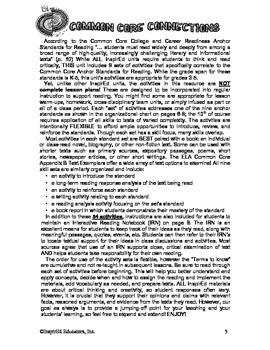 Common Core Activity Pack #4 Gr. 3-5 - Anchor Reading (voc