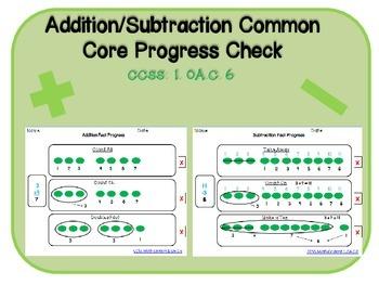 Common Core Addition Subtraction Progress Check