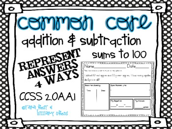 Common Core Addition & Subtraction Word Problems Sums to 1