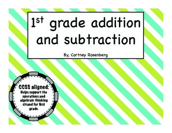 Common Core Addition and Subtraction