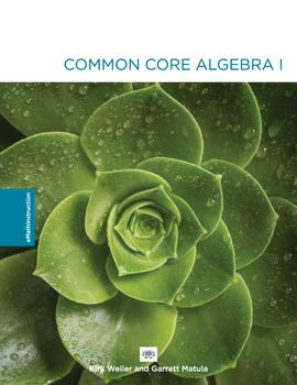 Common Core Algebra I - Unit #6.Answer Key