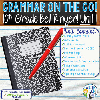 DAILY GRAMMAR & VOCABULARY PROGRAM - 10th Grade - Standard