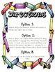 Common Core Aligned 4th Grade Q2 Homework Menus (all conte
