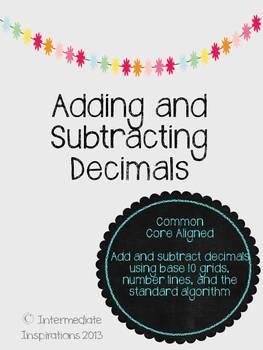 Common Core Aligned Adding and Subtracting Decimals