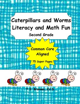 Second Grade Common Core Caterpillars and Worms Literacy a
