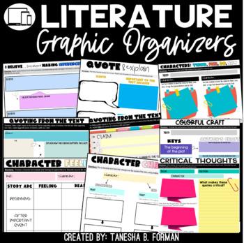 Common Core Aligned Reading Literature Graphic Organizers