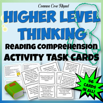 Higher Level Thinking Reading Comprehension Task Cards w/