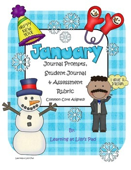 Common Core Aligned January Journal Prompts and Assessment