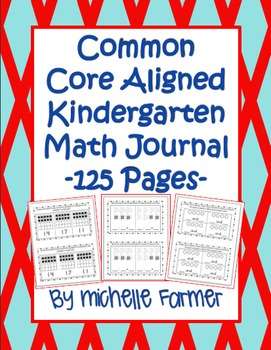 Common Core Aligned- Kindergarten Math Journal