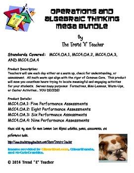 Common Core Aligned OA.1, OA.2, OA.3, OA.4 MEGA BUNDLE!!!