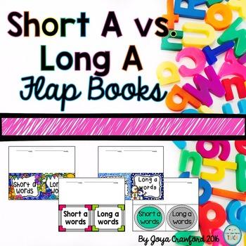 Vowels: Short A vs. Long A Flap Book