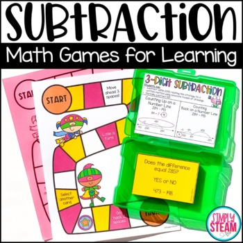Subtraction Game - Three Digit Subtraction With and Withou