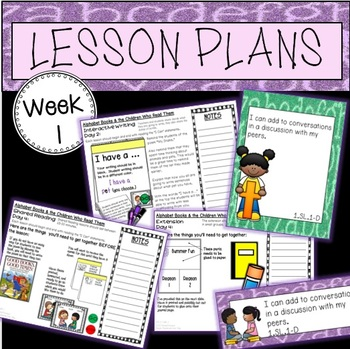 ALPHABET BOOKS and the CHILDREN WHO READ THEM: Week 1 Less