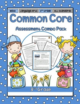 3rd Grade Language Arts and Math Assessment Combo Bundle