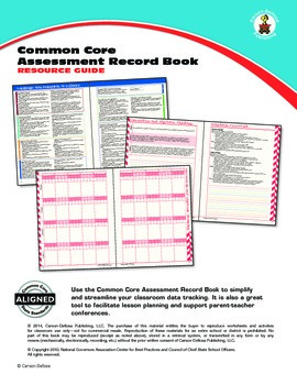 Common Core Assessment Record Book Resource Guide