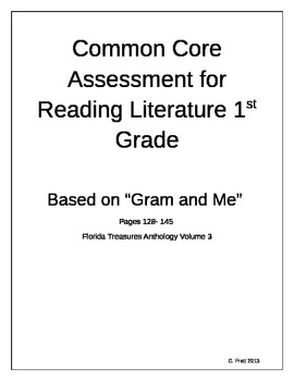 Common Core Assessment for Reading Literature 1st Grade