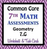Common Core Assessments Math - 7th - Seventh Grade - Geome
