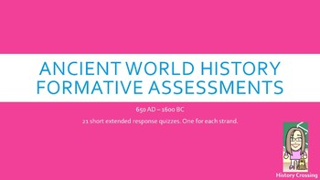 Formative Assessments for 7th Grade Social Studies:  Ancie