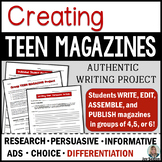 Common Core Authentic Writing Project: Creating Teen Magazines