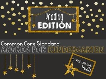 Common Core Awards: Kindergarten Reading Edition