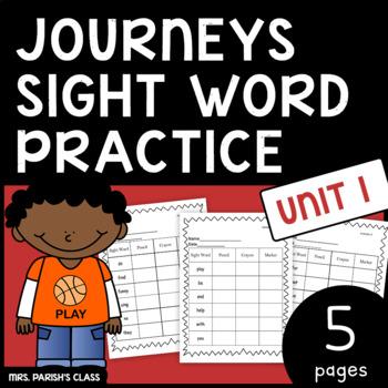 Common Core: BUNDLE HM Journeys first grade Unit 1 sight w