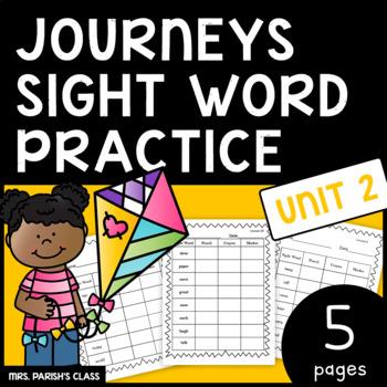 Common Core: BUNDLE HM Journeys Unit 2 sight word practice