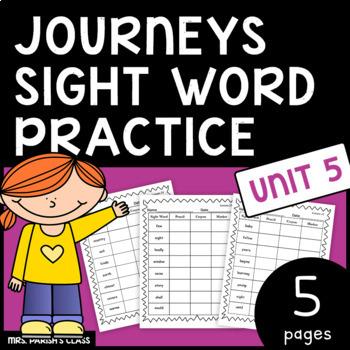 Common Core: BUNDLE HM Journeys Unit 5 sight word practice