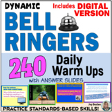 Bell Ringers - 240 Daily Warm Ups with Answer Slides - Com