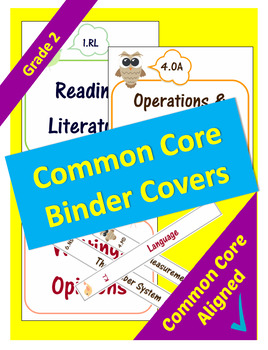 Common Core Binder Covers for ELA and Math Domains - 2nd Grade