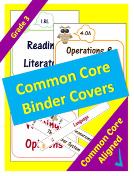 Common Core Binder Covers for ELA and Math Domains - 3rd Grade
