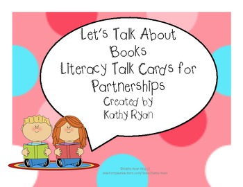 Common Core Book Talk Cards for Partnerships