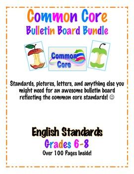 Common Core Bulletin Board Bundle English Grades 6-8
