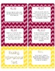 Common Core CCSS 3rd Grade ELA Labels and Posters-Chevron