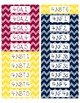 Common Core CCSS 4th Grade Math Labels and Posters-Chevron