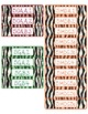 Common Core CCSS 5th Grade Math Labels and Posters-Zebra