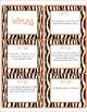 Common Core CCSS 7th Grade ELA Labels and Posters-Zebra Print