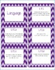Common Core CCSS 8th Grade ELA Labels and Posters-Chevron Print