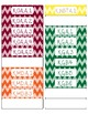 Common Core CCSS Kindergarten Math Labels and Posters-Chevron