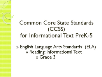 Common Core CCSS SWBAT Learning Goals Posters Grade 3 Read