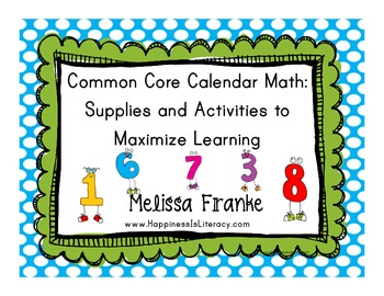 Common Core Calendar Math