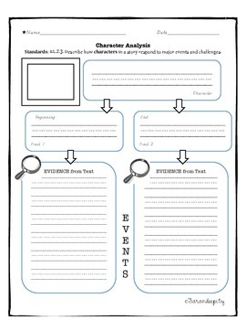 Common Core Character Analysis RL 2.3 English and Spanish