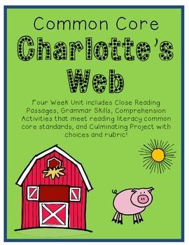 Common Core Charlotte's Web {Close Reading, Project Choice