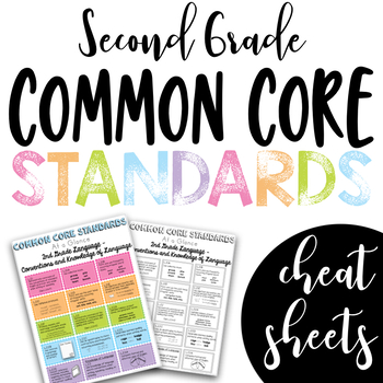 Common Core Cheat Sheets 2nd grade (all subjects)