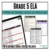 Grade 5 ELA Common Core Checklist