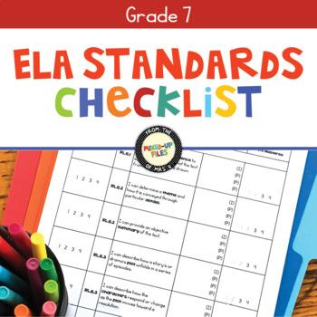 Common Core Checklist 7th Grade ELA